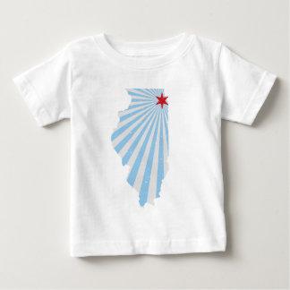 シカゴの旗 ベビーTシャツ