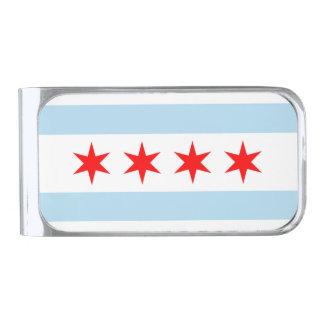シカゴの旗 銀色 マネークリップ