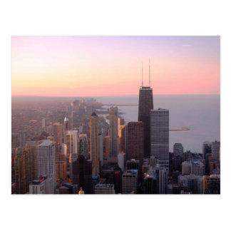 シカゴの日没 ポストカード