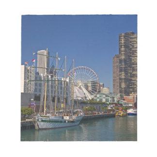 シカゴの海軍桟橋2の眺め ノートパッド
