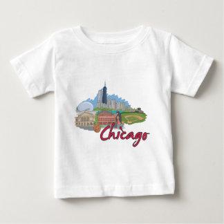 シカゴの漫画のスカイライン ベビーTシャツ