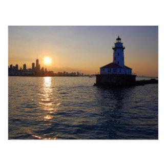 シカゴの灯台 ポストカード