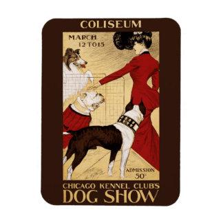 シカゴの犬小屋クラブのドッグショー1902年 マグネット