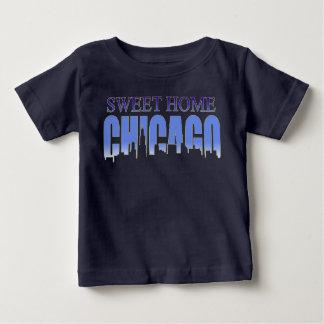 シカゴの甘い家のスカイライン ベビーTシャツ