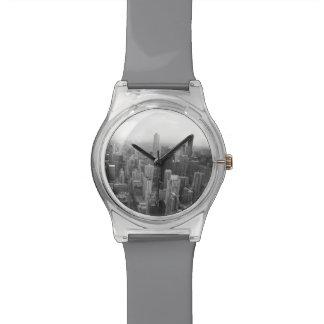 シカゴの白黒スカイライン 腕時計