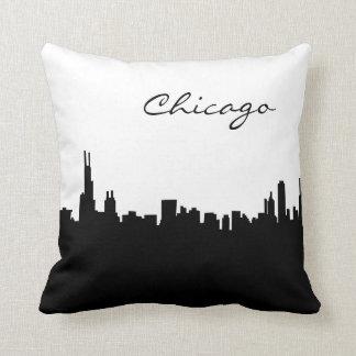 シカゴの白黒陸標 クッション