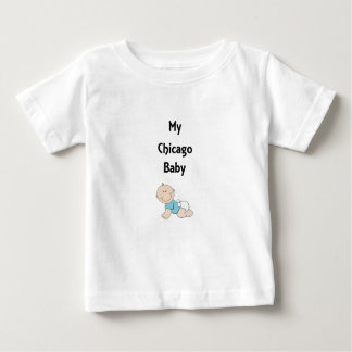 シカゴの私の男の赤ちゃん ベビーTシャツ