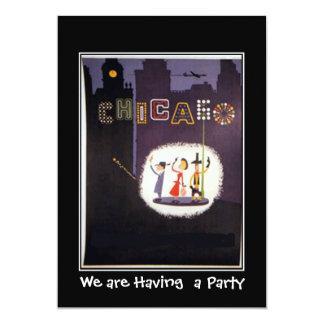 シカゴの私用パーティの招待状 カード