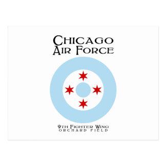 シカゴの空軍-第9戦闘機の翼 ポストカード