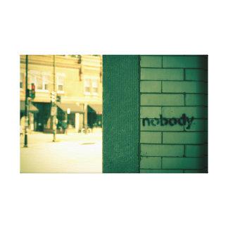 シカゴの落書き(または都市アートワーク) キャンバスプリント