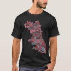 シカゴの近隣の地図 Tシャツ