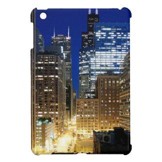 シカゴの都市景観の夜眺め iPad MINIケース