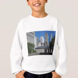 シカゴの都市景観 スウェットシャツ