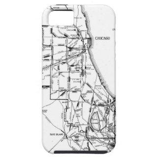 シカゴの鉄道Network (1913年)のヴィンテージの地図 iPhone 5 カバー