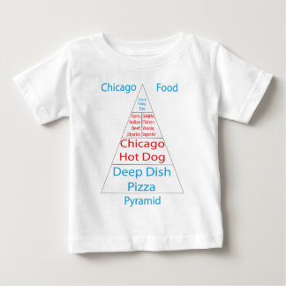 シカゴの食糧ピラミッド ベビーTシャツ