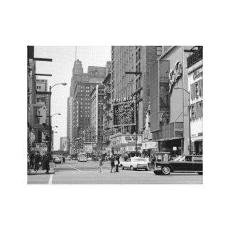 シカゴの60年代のランドルフStの東洋の劇場の写真 キャンバスプリント