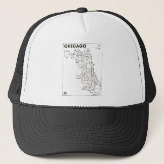 シカゴの「フードの地図のはっきりしたな星のトラック運転手の帽子 キャップ