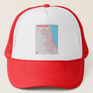 シカゴの「色のはっきりしたな星のトラック運転手の帽子のフードの地図 キャップ
