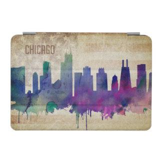 シカゴのIL|の水彩画都市スカイライン iPad MINIカバー