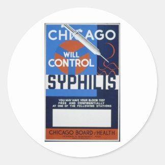 シカゴは梅毒を制御します ラウンドシール