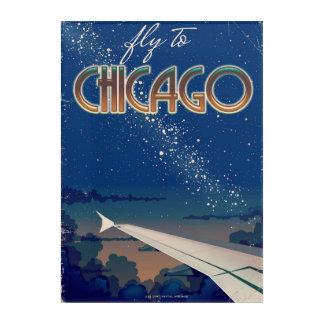 シカゴへのはえ アクリルウォールアート