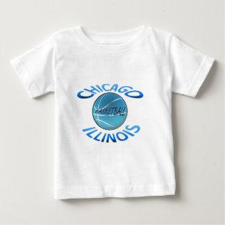 シカゴイリノイのバスケットボール ベビーTシャツ