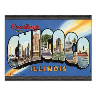 シカゴイリノイのヴィンテージからの挨拶 ポストカード