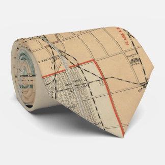 シカゴイリノイ(1889年)のヴィンテージの地図 ネクタイ