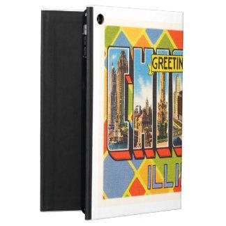 シカゴイリノイILの古いヴィンテージ旅行記念品 iPad AIRケース