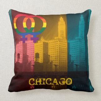 シカゴゲイプライドのレズビアンの30年代のリグリーの建物 クッション