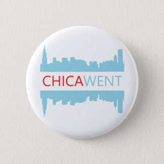 シカゴボタン- I CHICA-WENT 5.7CM 丸型バッジ