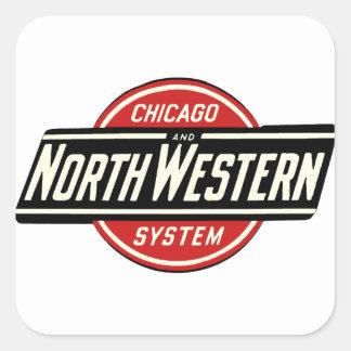 シカゴ及び北西鉄道ロゴ1 スクエアシール