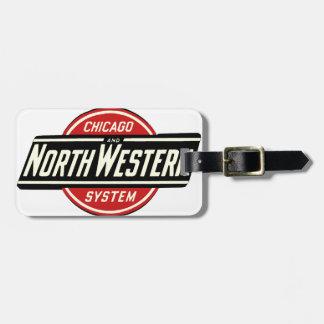 シカゴ及び北西鉄道ロゴ1 ラゲッジタグ