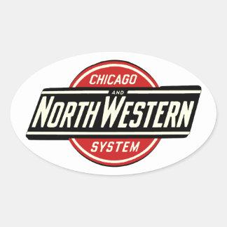 シカゴ及び北西鉄道ロゴ1 楕円形シール