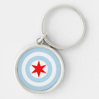 シカゴ大尉の旗の盾のキーホルダー キーホルダー