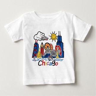 シカゴ子供[変えられる] ベビーTシャツ
