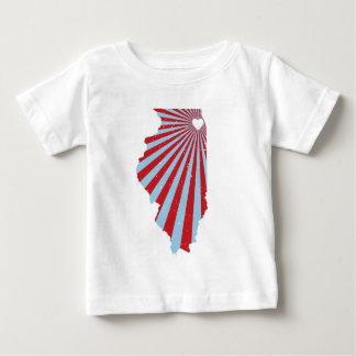 シカゴ愛(旗) ベビーTシャツ