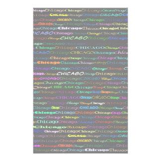 シカゴ文字デザインなIの文房具 便箋
