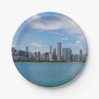 シカゴ日の都市景観 ペーパープレート