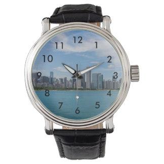 シカゴ日の都市景観 腕時計