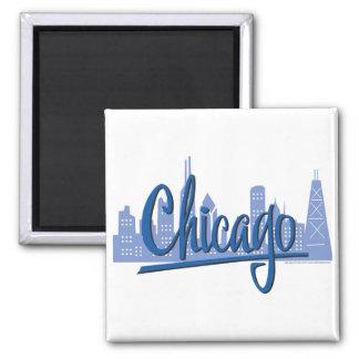 シカゴ暗青い マグネット