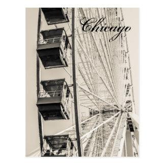 シカゴ海軍桟橋の観覧車の郵便はがき ポストカード
