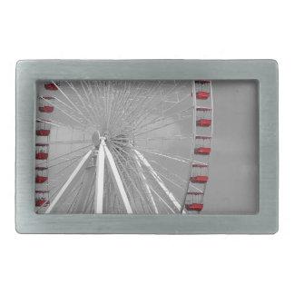 シカゴ海軍桟橋の観覧車 長方形ベルトバックル