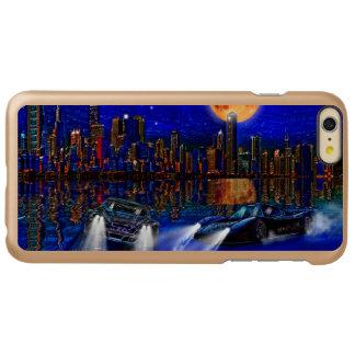 シカゴ都市スカイラインおよび通り競争車 INCIPIO FEATHER SHINE iPhone 6 PLUSケース