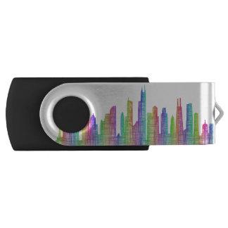 シカゴ都市スカイライン USBフラッシュドライブ