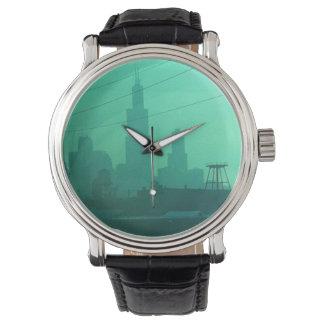 シカゴ都市恋人の腕時計 腕時計