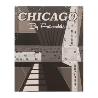 シカゴ都市旅行ポスター アクリルウォールアート