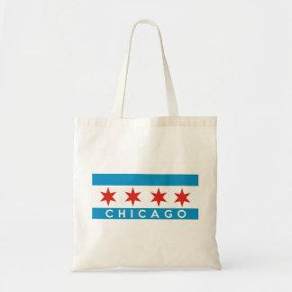 シカゴ都市旗アメリカの文字の名前 トートバッグ