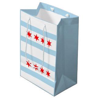 シカゴ都市旗 ミディアムペーパーバッグ