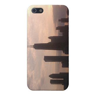 シカゴ金ゴールドの海岸のスカイラインのIPhone 4/4Sの場合 iPhone 5 Case